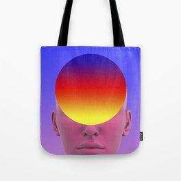 Gradient face Tote Bag