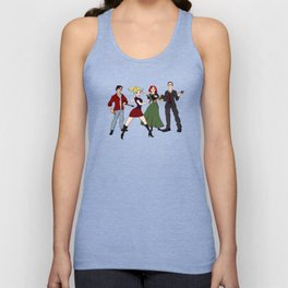 Cartoony Buffy and the gang Unisex Tank Top