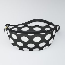 Black and White Polka Dots 772 Fanny Pack
