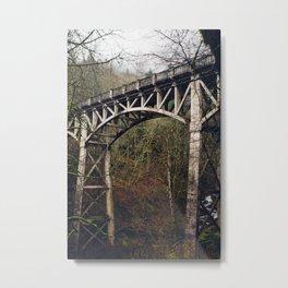 Columbia Gorge Bridge Metal Print