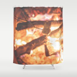 Making Smores Shower Curtain