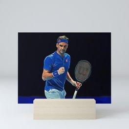 Tennis legend Roger Federer Mini Art Print