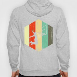 A Basketball Tee For Players With A Vintage Retro Silhouette Of A Man Showing His Skills T-shirt Hoody