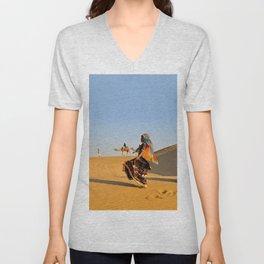 Thar Desert, Rajasthan, India Unisex V-Neck