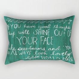 Good Thoughts Rectangular Pillow