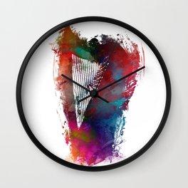 Harp #harp #art #music Wall Clock