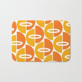 Mid Century Modern Orange Gold Bath Mat