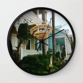 The colorful streets of Key West Wall Clock