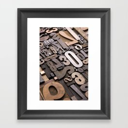 Numbers - Typography Photography™ Framed Art Print