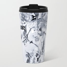 winter roses christmas pattern decor Travel Mug
