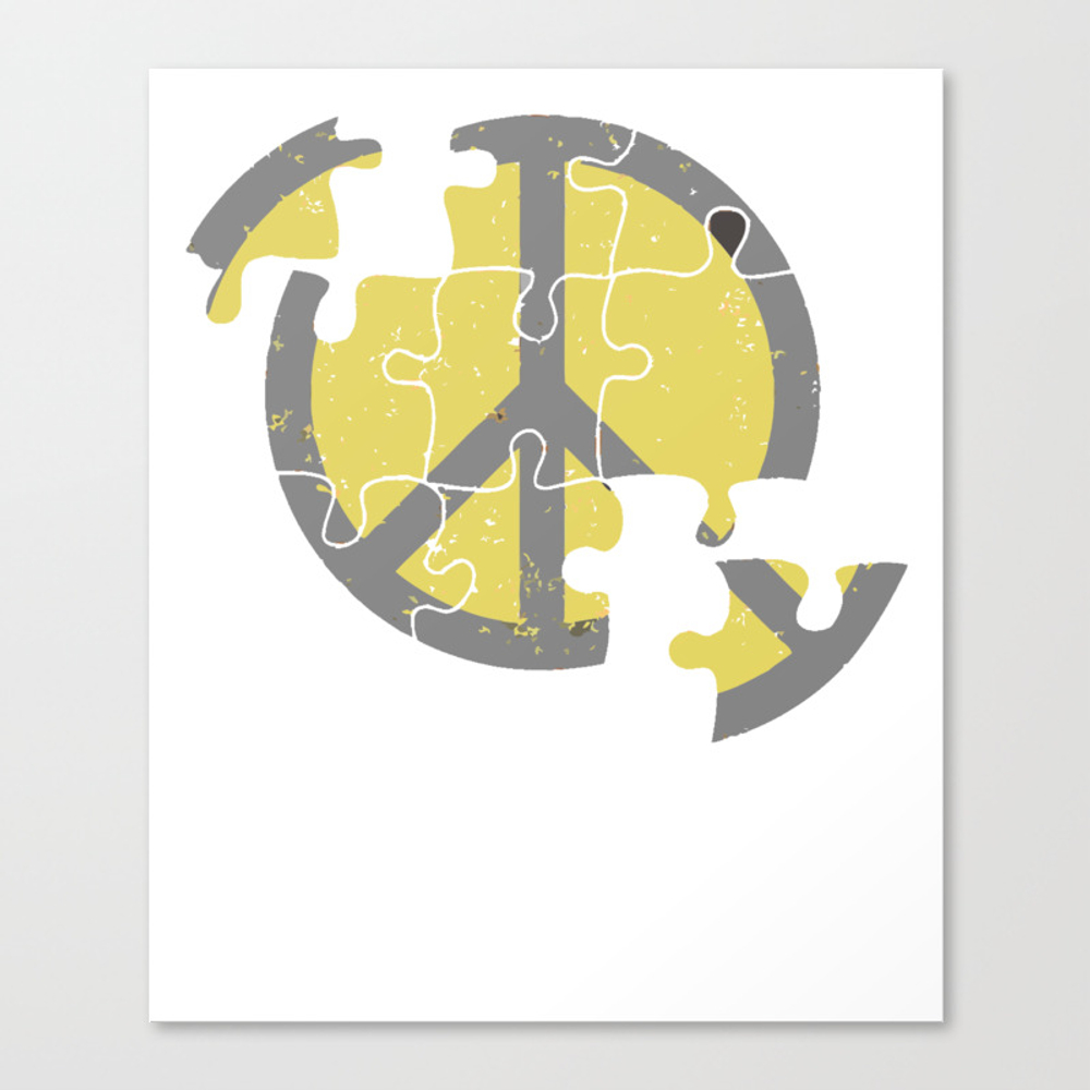 Puzzle Peace T-shirt Canvas Print by Merchtrending CNV8889334