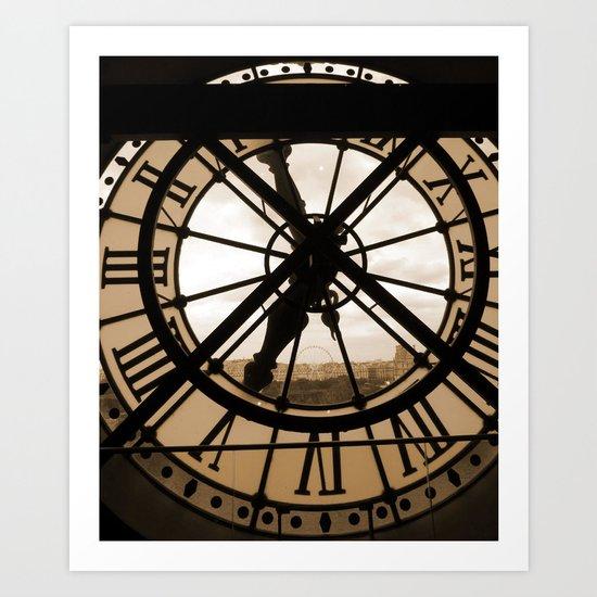 Parisian time Art Print
