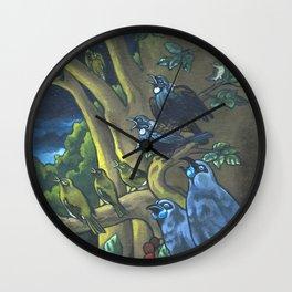 Dawn Chorus in the Primeval New Zealand Wilderness Wall Clock