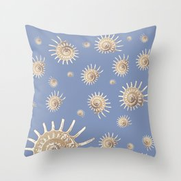 Solaris on Blue by Chrissy Wild Throw Pillow