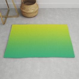 Meadowlark, Lime Punch, Arcadia Blurred Minimal Gradient | Pantone colors of the year 2018 Rug