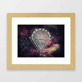 Space Zen Framed Art Print