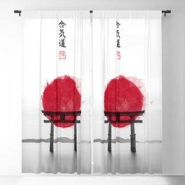JAPANESE HINOMARU FLAG SIGNS Blackout Curtain