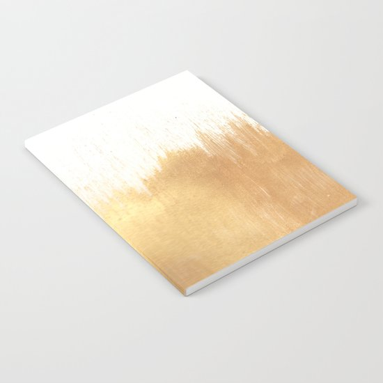 Brushed Gold Notebook