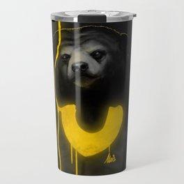 The Majestic Sun Bear Travel Mug