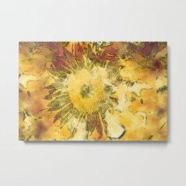Modern Sunflower Metal Print