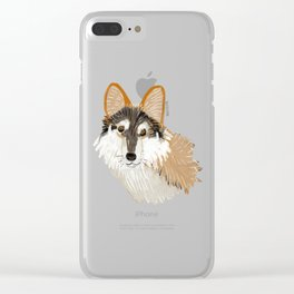 Mexican Wolf (Canis lupus baileyi) (TOPOS) Clear iPhone Case
