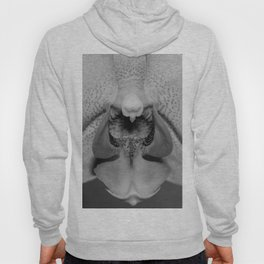 orchid close up b&w Hoody