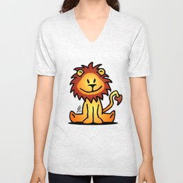 Cute little lion Unisex V-Neck