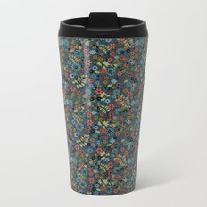 Floral retro colors print Metal Travel Mug