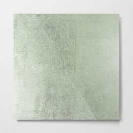 Modern elegant stylish blush green abstract pattern Metal Print