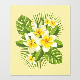 Tropical Bouquet. Plumeria Canvas Print