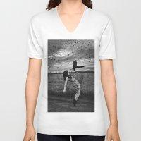 divergent V-neck T-shirts featuring Divergent by Stephanie Massaro