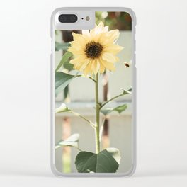 the sunflower & the bee Clear iPhone Case