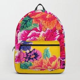 Oriental Peony Print Backpack