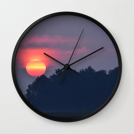 Morning Fire Wall Clock