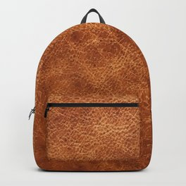 Brown vintage faux leather background Backpack