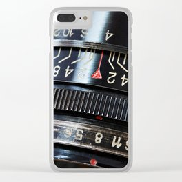 Retro photo slr camera lens Clear iPhone Case