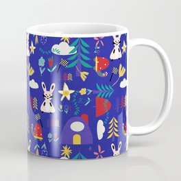 Tortoise and the Hare is one of Aesop Fables blue Coffee Mug