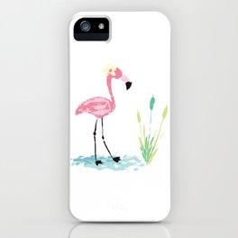 Hawaian flamingo iPhone Case