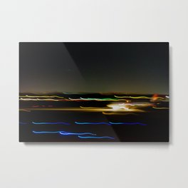 Blurred Plane Metal Print