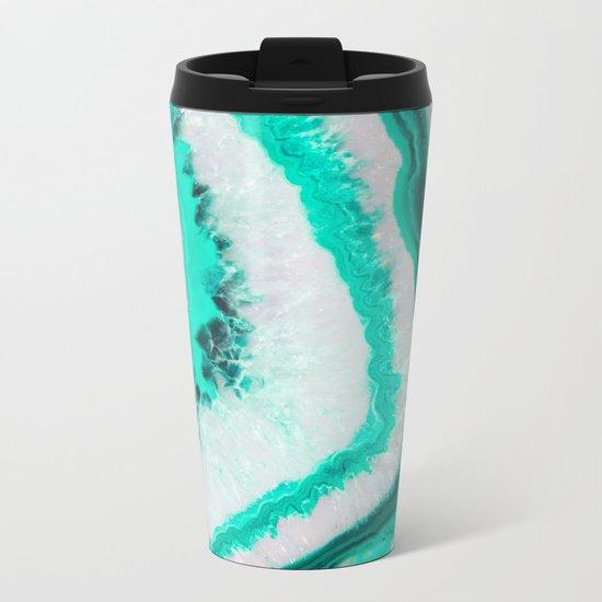 Mint Agate Metal Travel Mug