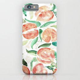 Watercolor Peaches iPhone Case
