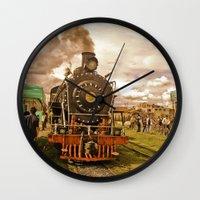 train Wall Clocks featuring Train by Alejandra Triana Muñoz (Alejandra Sweet