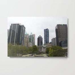 Vancouver from Robson Square Metal Print