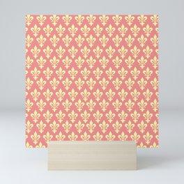 fleur de lis motif pattern Mini Art Print