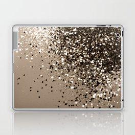 Sparkling Sepia Lady Glitter #1 #shiny #decor #art #society6 Laptop & iPad Skin