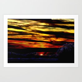 Blood Sunset Art Print