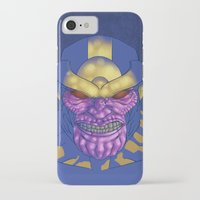 thanos iPhone & iPod Cases featuring Behold, Thanos! by Digital.Soapbox