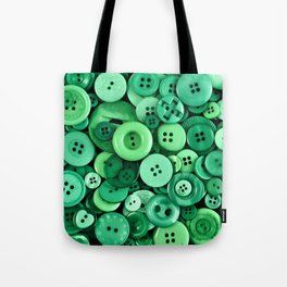 Button Green Tote Bag