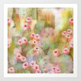 Cactus Rose I Art Print