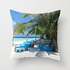 Maldivian lounge Throw Pillow